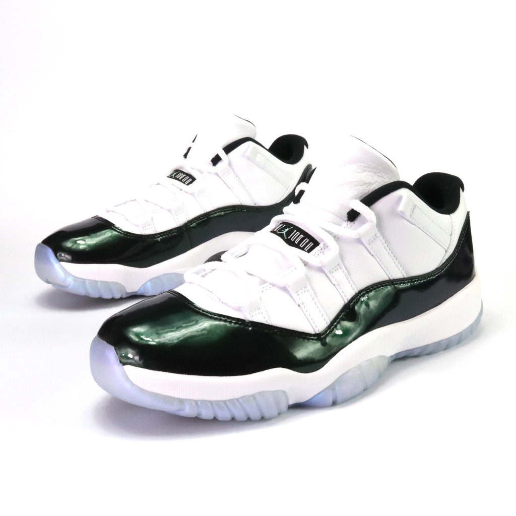 7b0de759e2f1 Air Jordan 11 Retro Low White Black Emerald Rise – Sole Mate Sneaker  Boutique