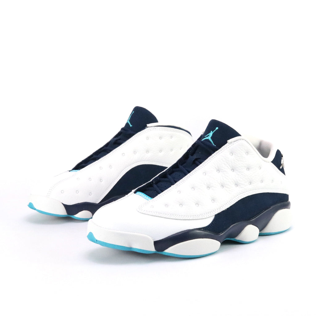 Air Jordan 13 Retro Low Hornet White Metallic Silver Midnight Navy Turquoise