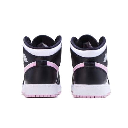 Air Jordan 1 Mid GS White Arctic Pink Black White