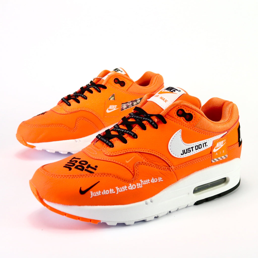 b158b1cc13 Women's Air Max 1 Deluxe Just Do It Total Orange Black White – Sole Mate  Sneaker Boutique