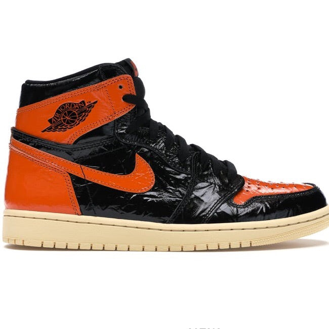 "Air Jordan 1 ""Shattered Backboard 3.0"" Black Pale Vanilla Starfish"