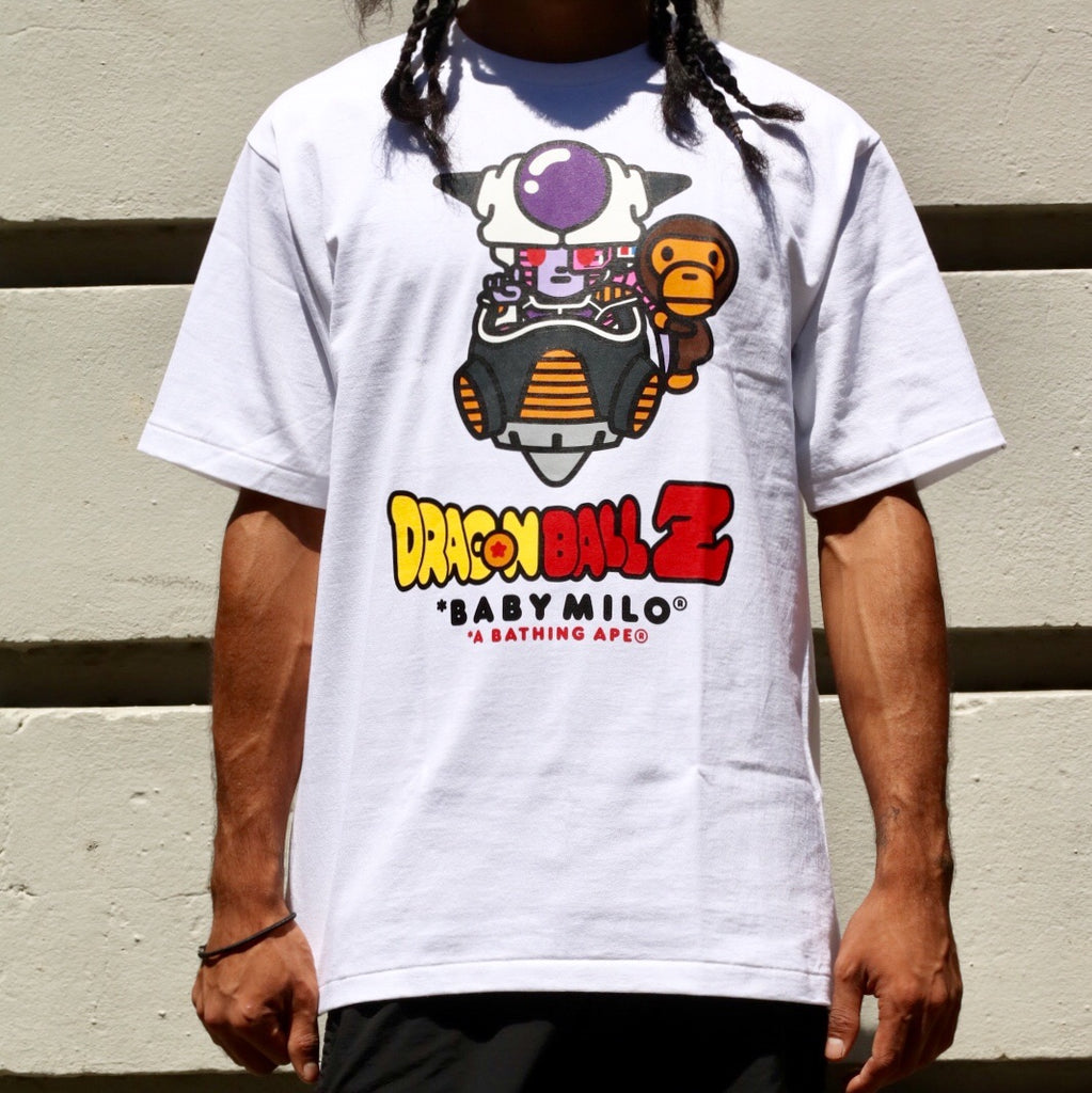 A Bathing Ape x Dragonball Z Tee White Freeza x Baby Milo