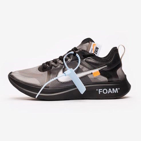 Nike x OFF WHITE Zoom Fly Black White Cone