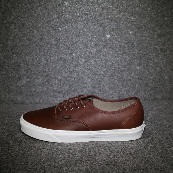 Side View of the Vans Authentic Leather Dark Brown at Solemate Sneakers Sydney