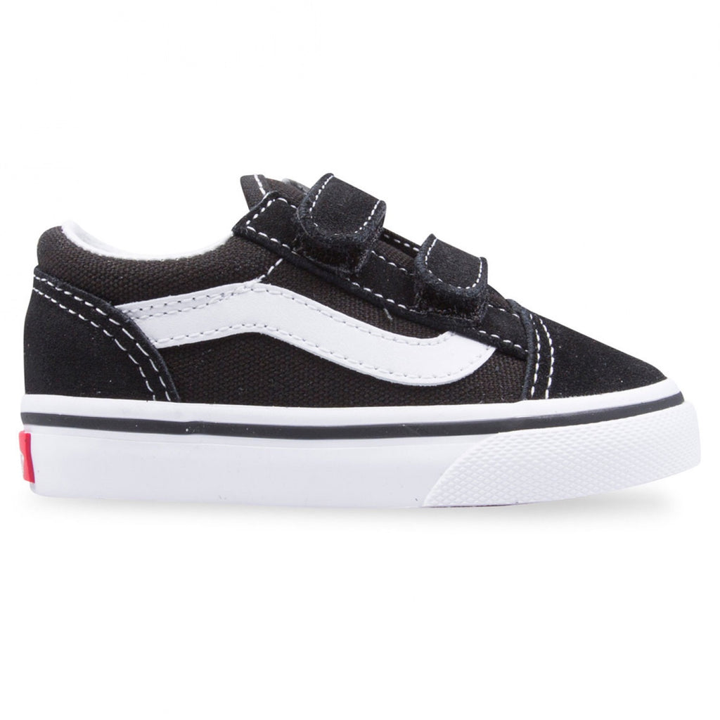 Toddler Old Skool Velcro Black White