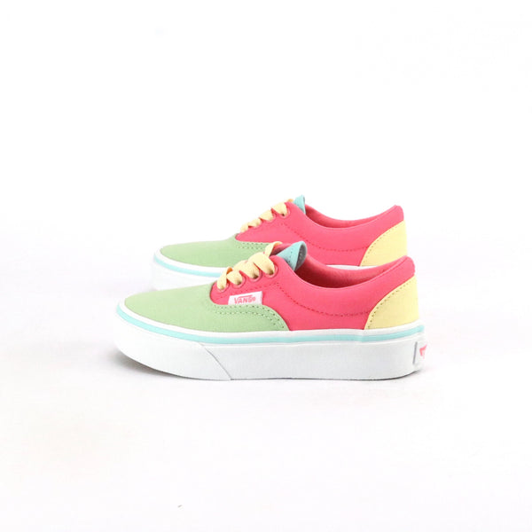 Youth Vans Era Colour Block Strawberry Pink True White