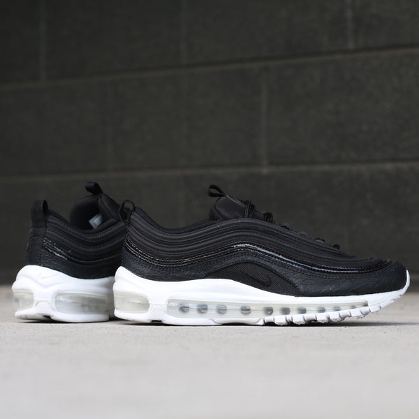 Side view of the Women's Air Max 97  Premium Black White at Solemate Sneakers Sydney