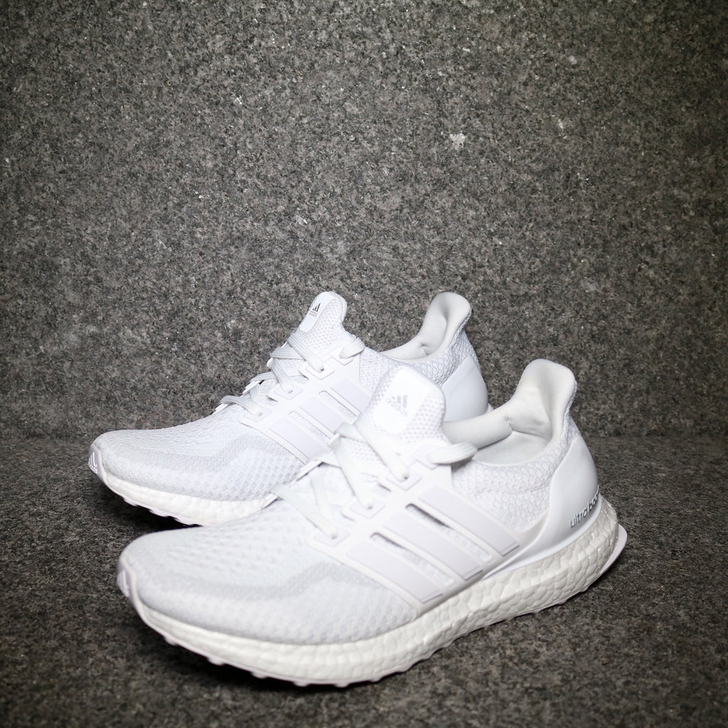 8b558f07da6 Off Centre View of the Adidas Ultra Boost 2.0 Triple White at Solemate  Sneakers Sydney