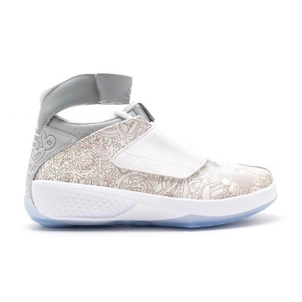 Air Jordan XX Laser White Metallic Silver White