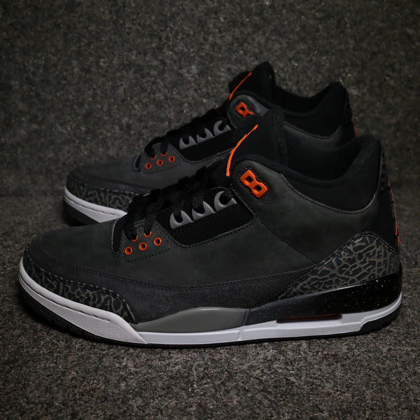"Air Jordan 3 Retro ""Fear"" Night Total Orange Black Natural"