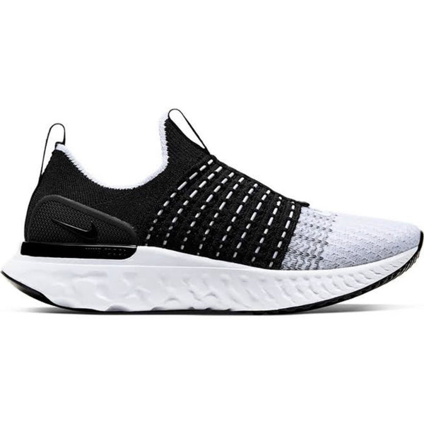 Women's Nike React Phantom Run Flyknit 2 Black White