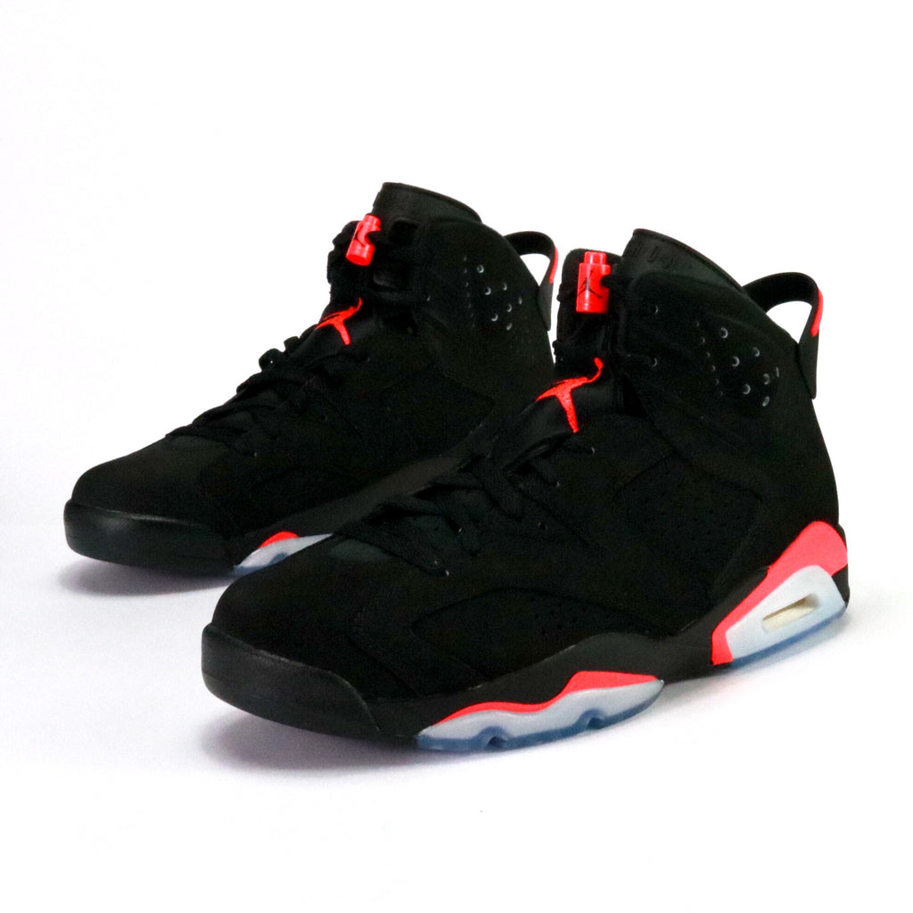 best loved f3707 8b651 ... discount code for front view of air jordan 6 retro black infrared 23  black infrared 23