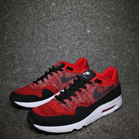 Air Max 1 Flyknit Ultra 2.0 University Red Black