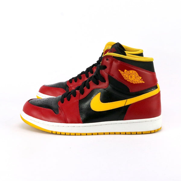 Air Jordan 1 Premium Human Highlight Black Gym Red University Gold