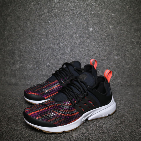 Women's Air Presto Jacquard Premium Black Hot Lava