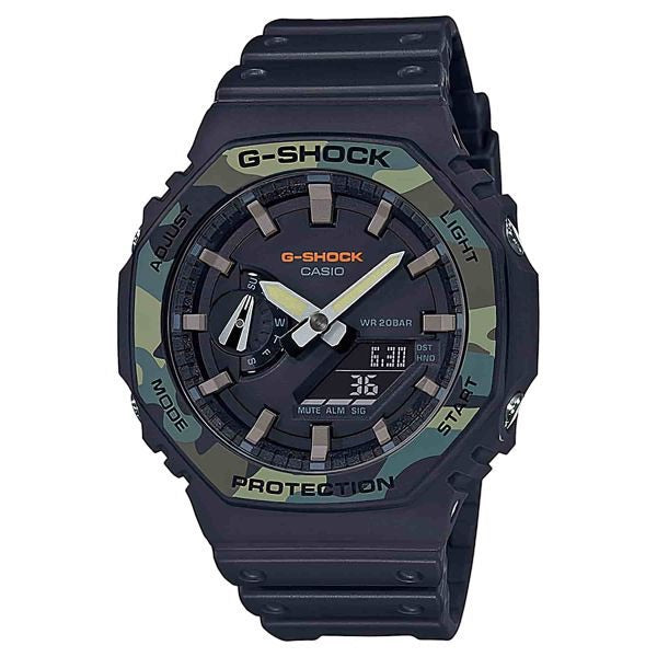 G-Shock GA2100SU1A Green Camo Analog Digital Carbon by G-Shock