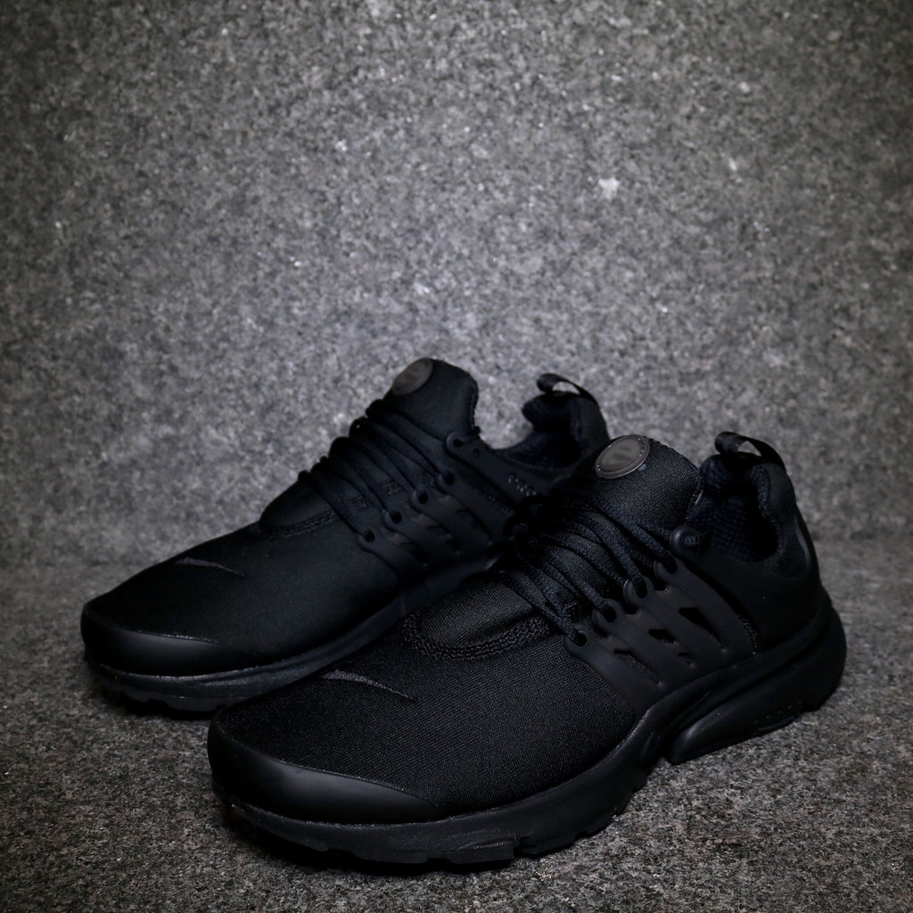 Off Centre View of the Nike Air Presto Triple Black at Solemate Sneakers Sydney