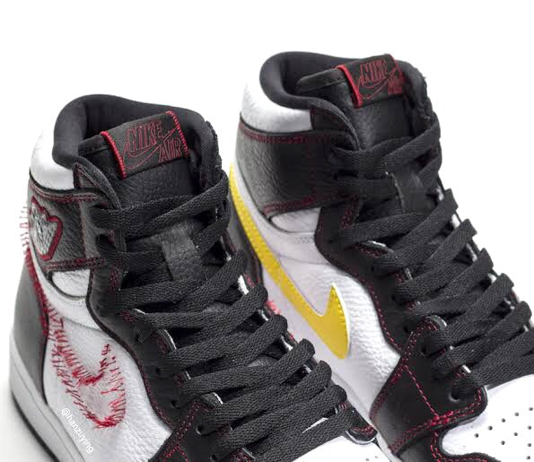 Air Jordan 1 Retro Hi Defiant Black Tour Yellow White