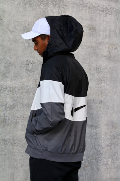 Nike Sportswear WindRunner Jacket Black White Grey