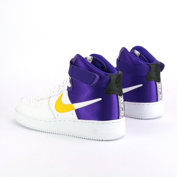 Air Force 1 High 07 LV8 NBA Pack Lakers White Field Purple Amarillo