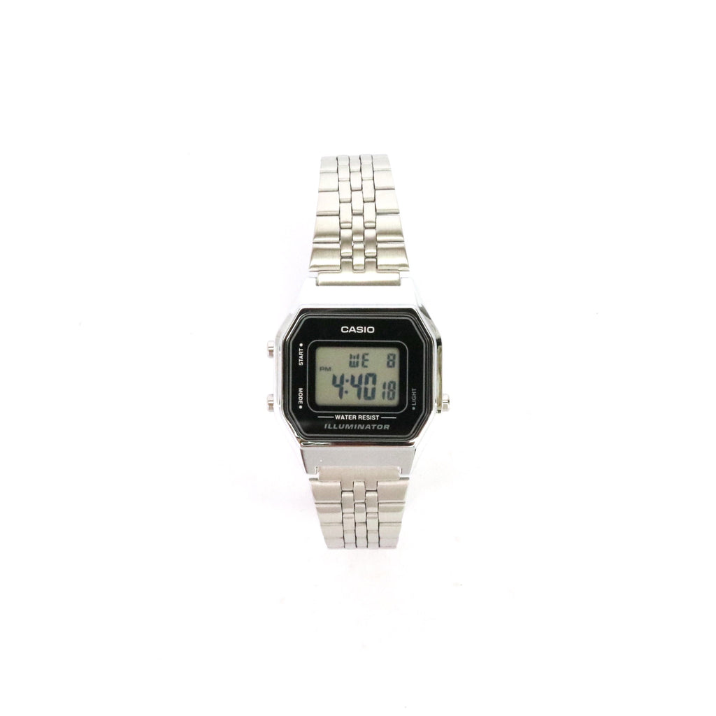 Casio Ladies Digital Watch Silver Black