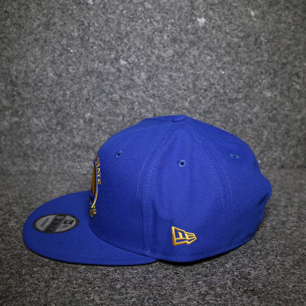 New Era Golden State Warriors Snapback Royal Blue Gold White