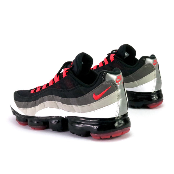 Air VaporMax 95 White Hot Red Dark Pewter