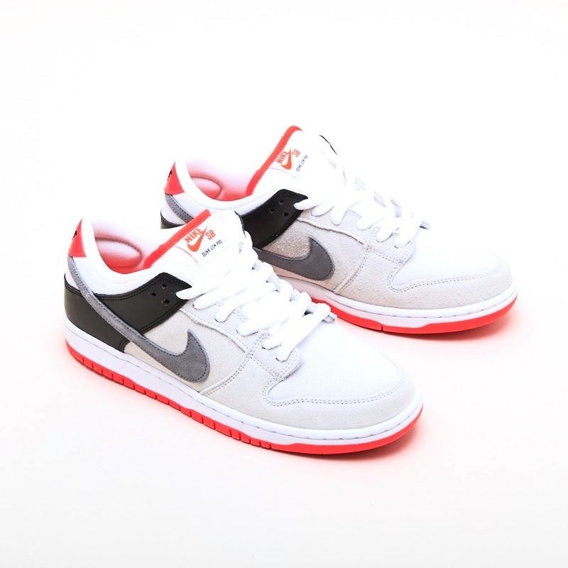 SB Dunk Low Pro Infrared Neutral Grey Crimson Cool Grey