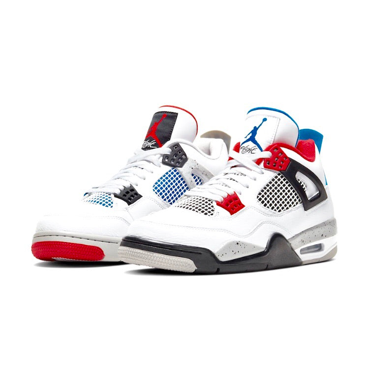 Air Jordan 4 Retro What The? White Military Blue Fire Red