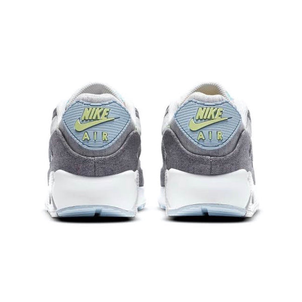 Air Max 90 NRG Recycled Canvas Crater Vast Grey White Barely Volt