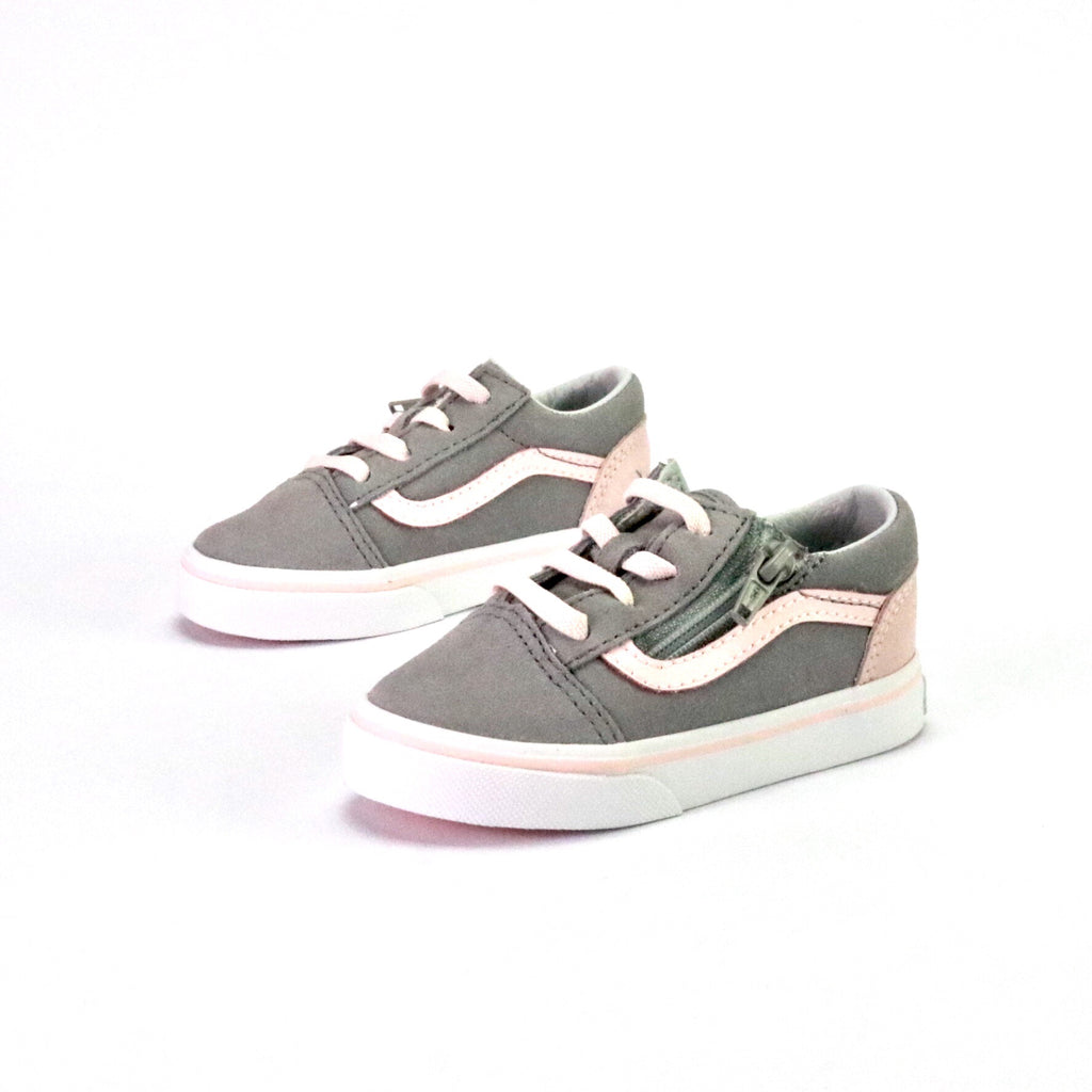 6091bb1dd6 Toddler Old Skool Zip Grey Pink White – Sole Mate Sneaker Boutique
