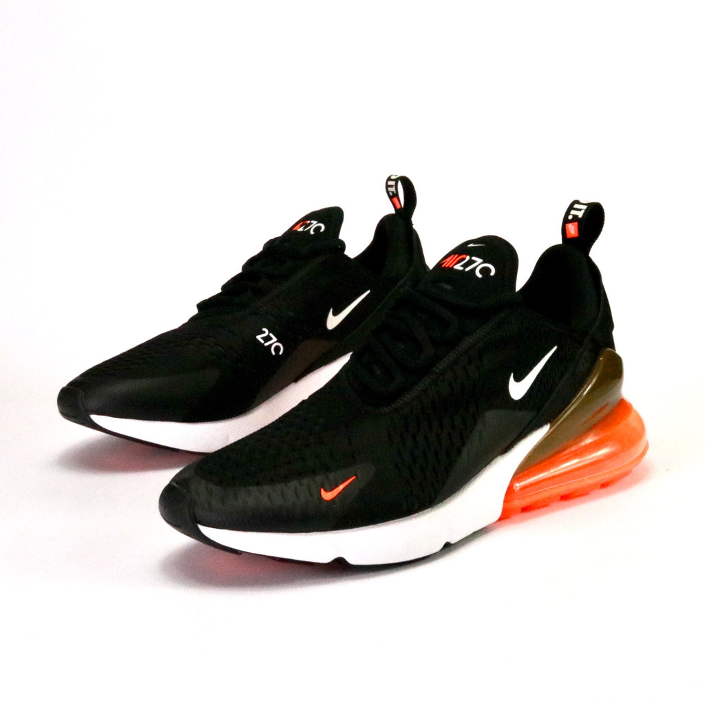 quite nice abe07 8dd18 Air Max 270 Just Do It Black White Total Orange