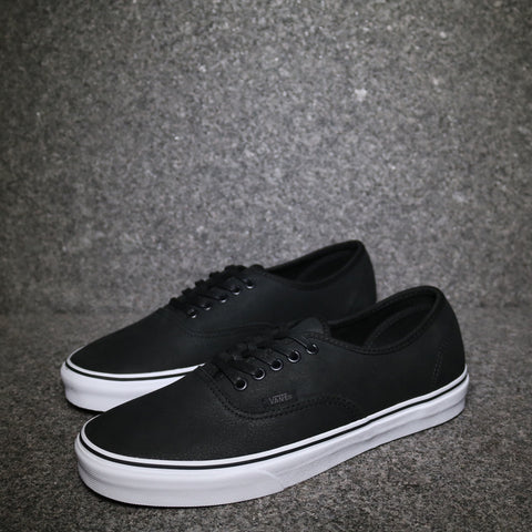Authentic Premium Leather Black True White