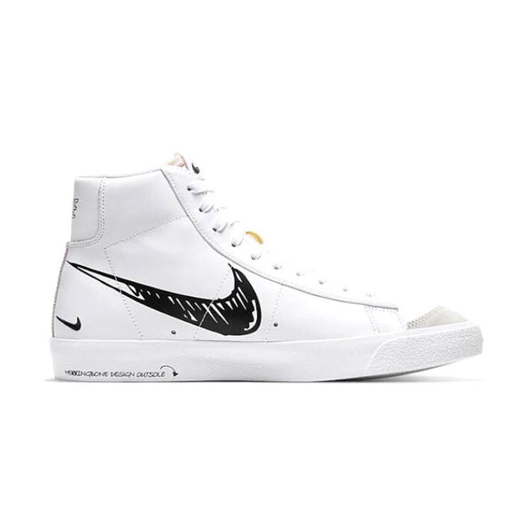 Blazer Mid 77 Sketch White Black White by Nike