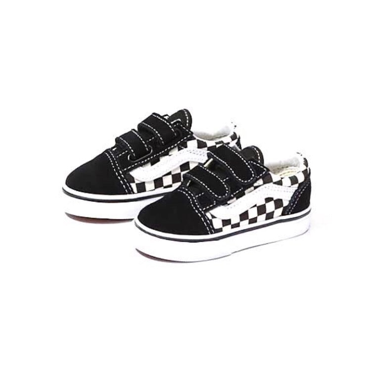Toddler Old Skool V Primary Checkerboard Black White