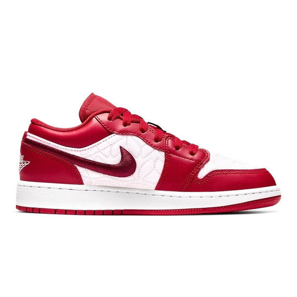 Air Jordan 1 Low GS Red Quilt White