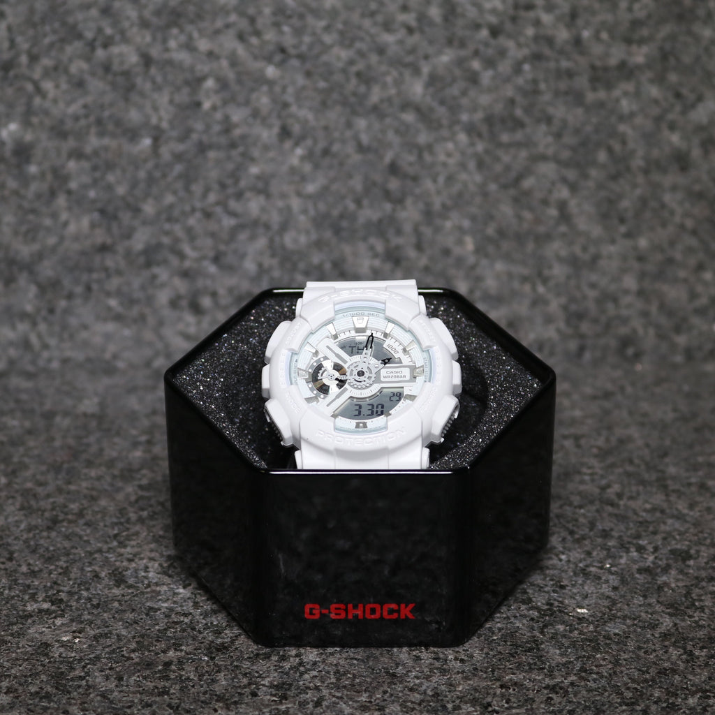G-Shock GA110 Punching Pattern White Black