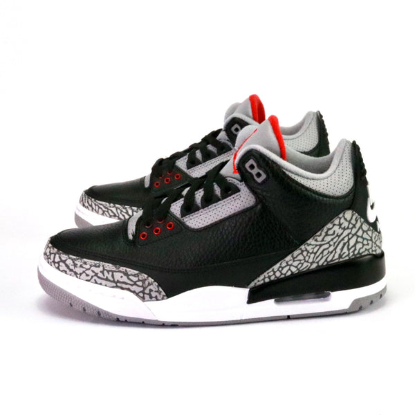 "Air Jordan 3 Retro ""Black Cement"" 2018 Black Fire Red Cement Grey"