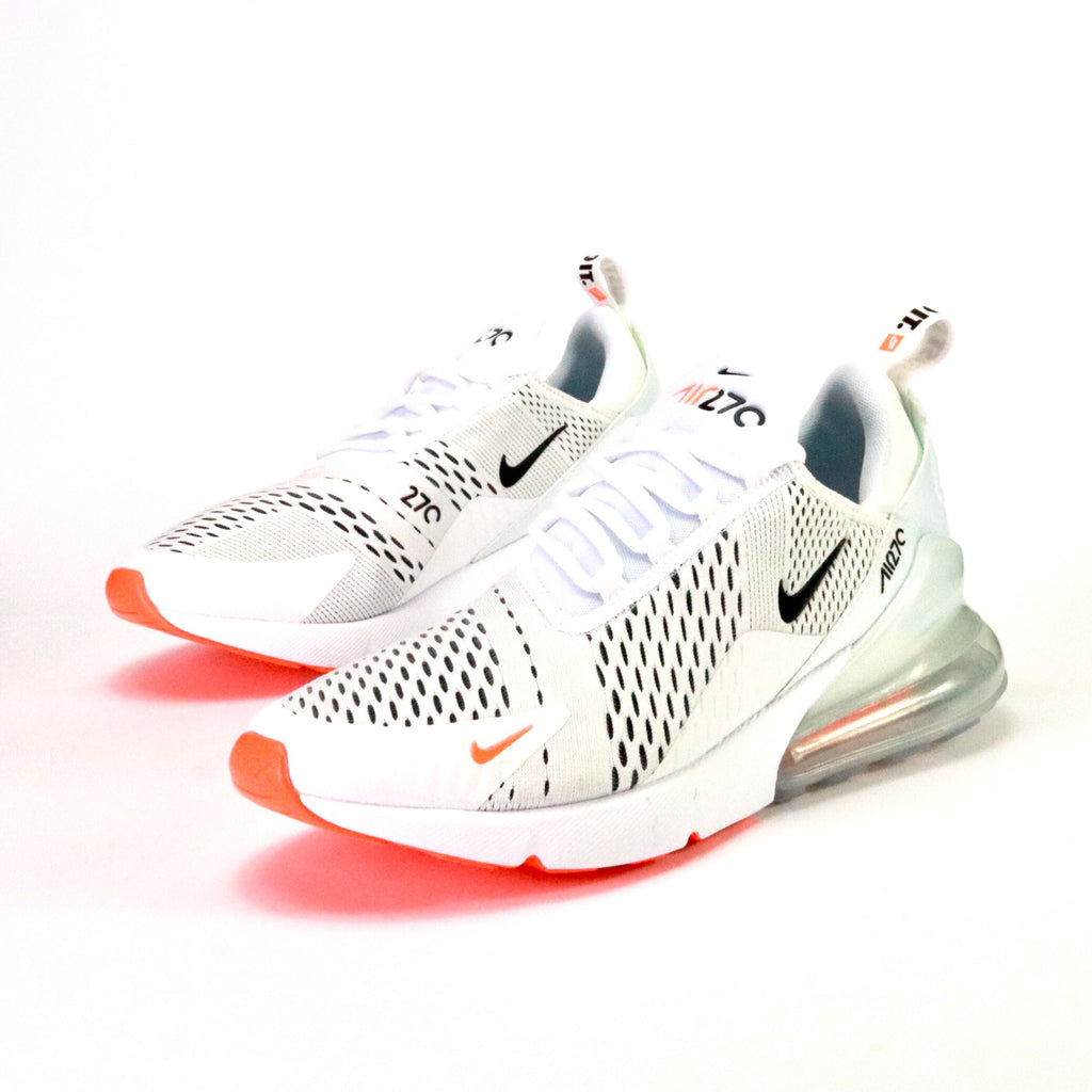 low priced ffe3e d4a50 Air Max 270 Just Do It White Black Total Orange