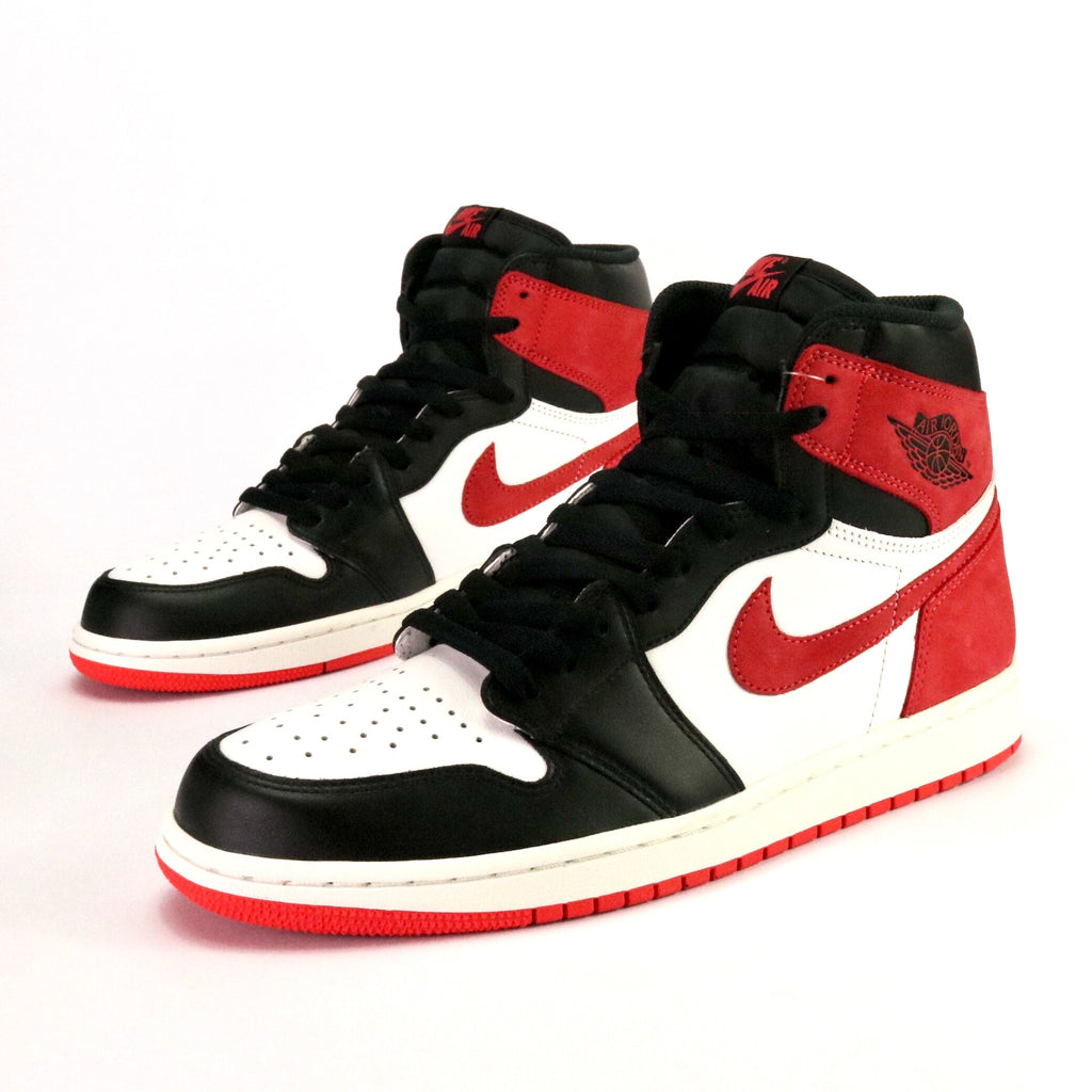 Air Jordan 1 Retro White Track Red Black