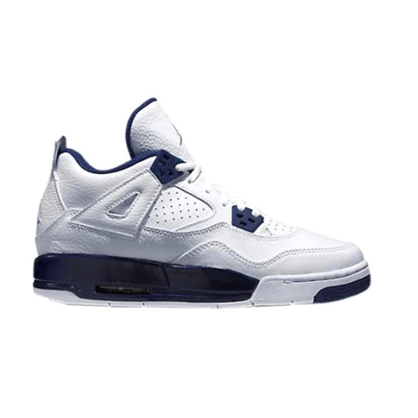 "Air Jordan 4 Retro BG GS ""Columbia"" White Legend Blue Midnight Navy"
