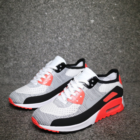 Women's Air Max 90 Ultra 2.0 Flyknit White Wolf grey Crimson