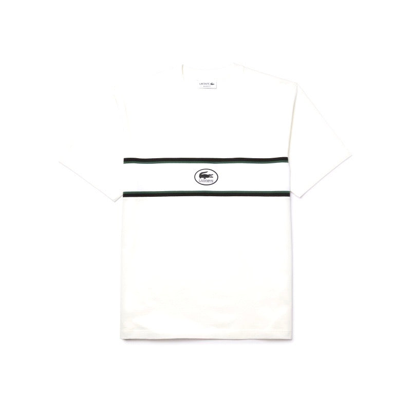 Lacoste Heritage Tee Shirt White Navy Green