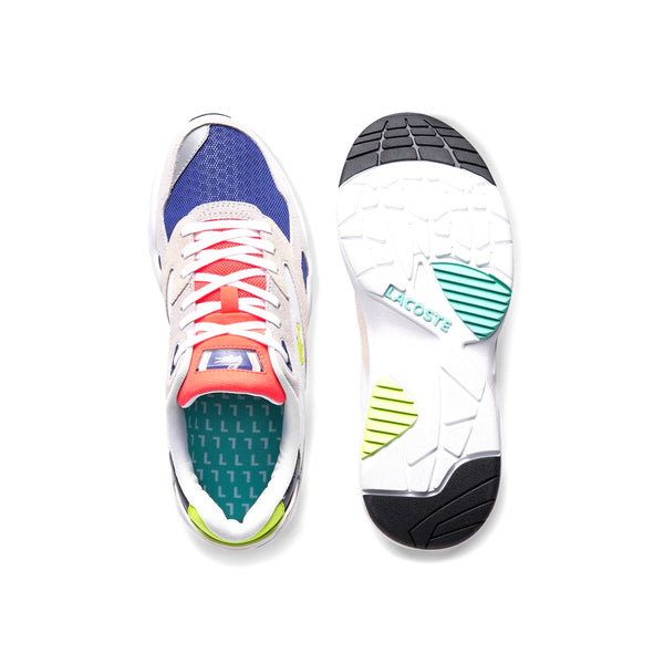 Women's Storm 96 Low White Navy Neon Multi by Lacoste