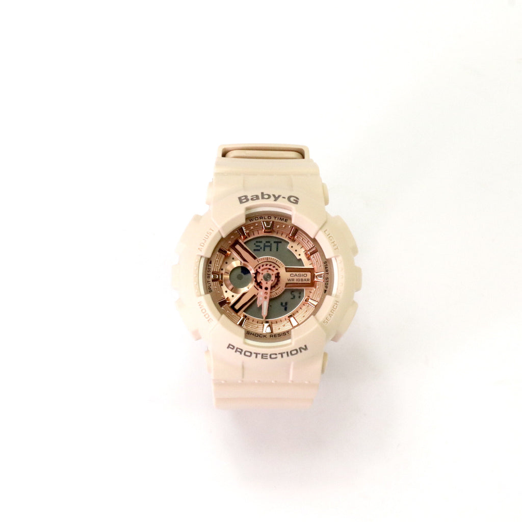 Baby G DUO Pink Beige Rose Gold BA110CP4A
