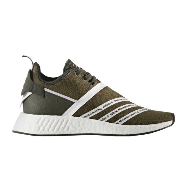 NMD R2 x White Mountaineering Trace Olive Ftwr White Ftwr White