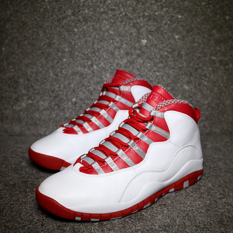 Air Jordan X Retro White Varsity Red Lt Steel Grey