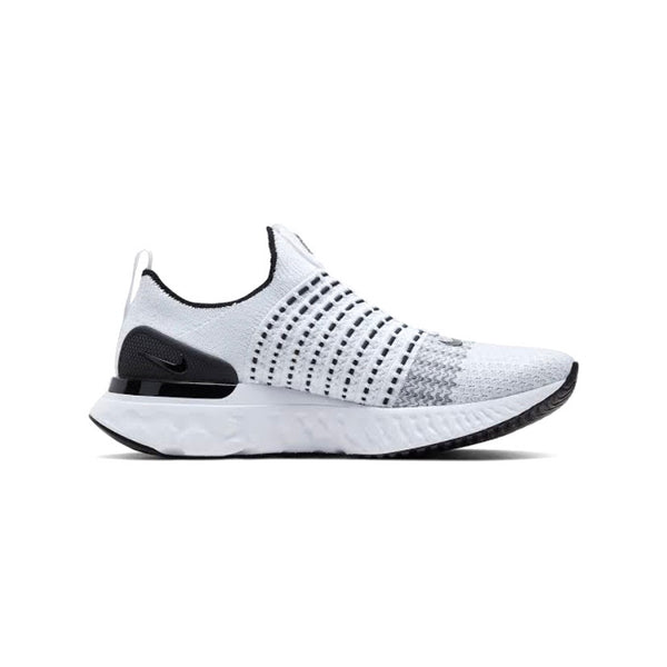 NIke React Phantom Run Flyknit 2 White Black Platinum