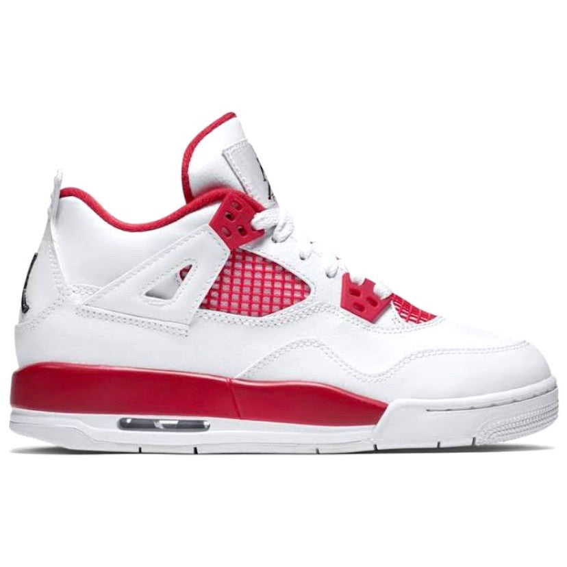 "Air Jordan 4 Retro BG (GS) ""Alternate 89"" White Black Gym Red"
