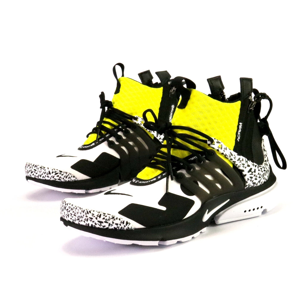 Air Presto Mid Acronym White Black Dynamic Yellow